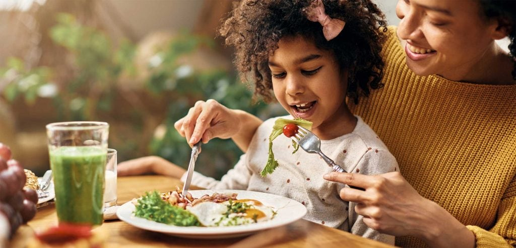 You can teach your child how to eat, that's how you build a healthy eating habit