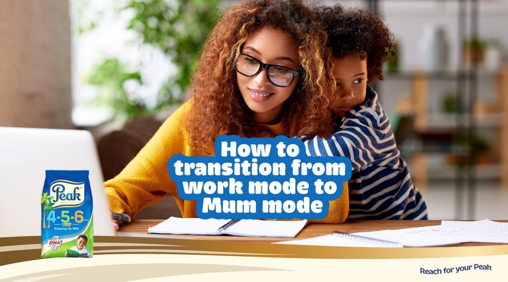 work mode to mom mode