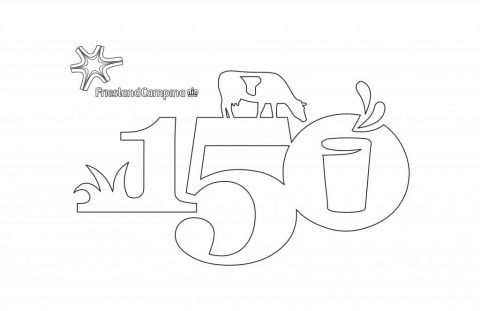 Colouring Page Anniversary Flag